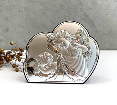 Срібна ікона Ангел Охоронець (19 x 15,5 см) 81257 4L